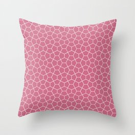 Geometric smoked-pink all-over pattern Throw Pillow