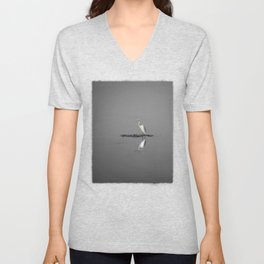 """""""Mirrored Egret"""" by Murray Bolesta Unisex V-Neck"""