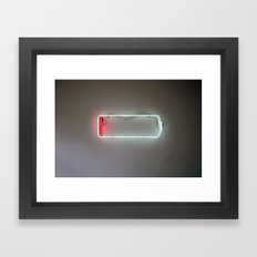Low Battery Framed Art Print