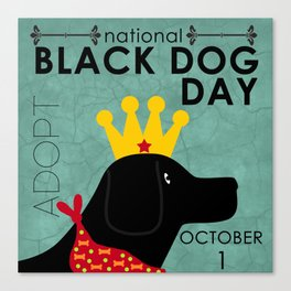 Black Dog Day Royal Crown Canvas Print