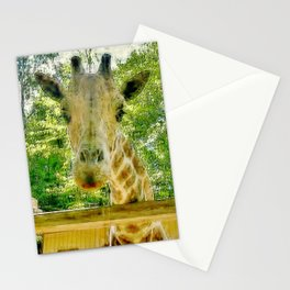 Giraffe Face Close Up Stationery Cards
