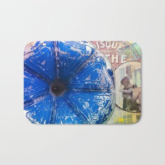 Musical Blue Mood, Flowers Photography Bath Mat