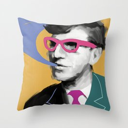 Smart Stephen, POP art style, digitally painted Throw Pillow