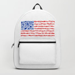 American Flag Weapons Art Backpack