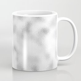 Frosty silver modern abstract background Coffee Mug