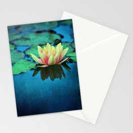 waterlily textures Stationery Cards