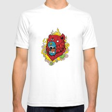 Bearrr SMALL Mens Fitted Tee White
