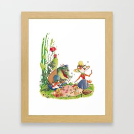 Animals in picnic Framed Art Print