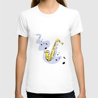 saxophone T-shirts featuring Saxophone Sax by shopaholic chick