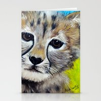 cheetah Stationery Cards featuring Cheetah by A Calcines