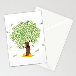 """Cute and inspiring best for luck """"Money Growing"""" tee design. Makes an awesome gift to your friends!  Stationery Cards"""