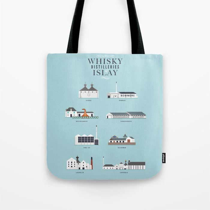 Whisky Distilleries of Islay Tote Bag by dwatson  d124eedc542e4