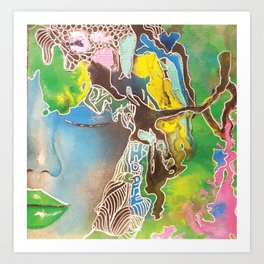 Water Blossom Art Print