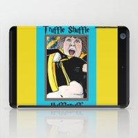 hufflepuff iPad Cases featuring Truffle Shuffle Hufflepuff by Portraits on the Periphery