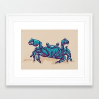 crab Framed Art Prints featuring Crab by Jenji