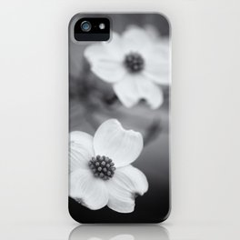 Dogwoods in Black and White iPhone Case