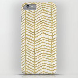Gold Herringbone iPhone Case