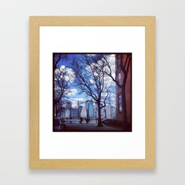 Sliver of Skyline Framed Art Print