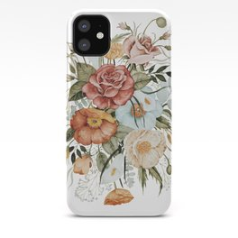 Roses and Poppies iPhone Case