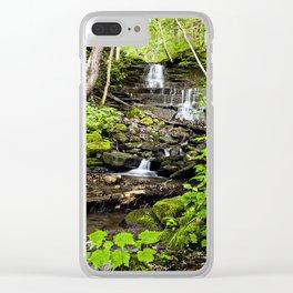 little waterfalls Clear iPhone Case