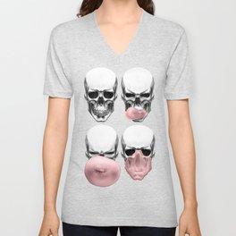 Skulls chewing bubblegum Unisex V-Neck