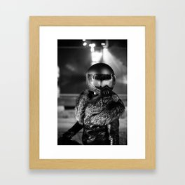 Atticus Anonymous and Her Bike Framed Art Print