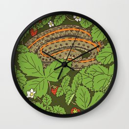 Snake & Strawberries Wall Clock