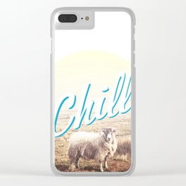 Sheep - chill Clear iPhone Case