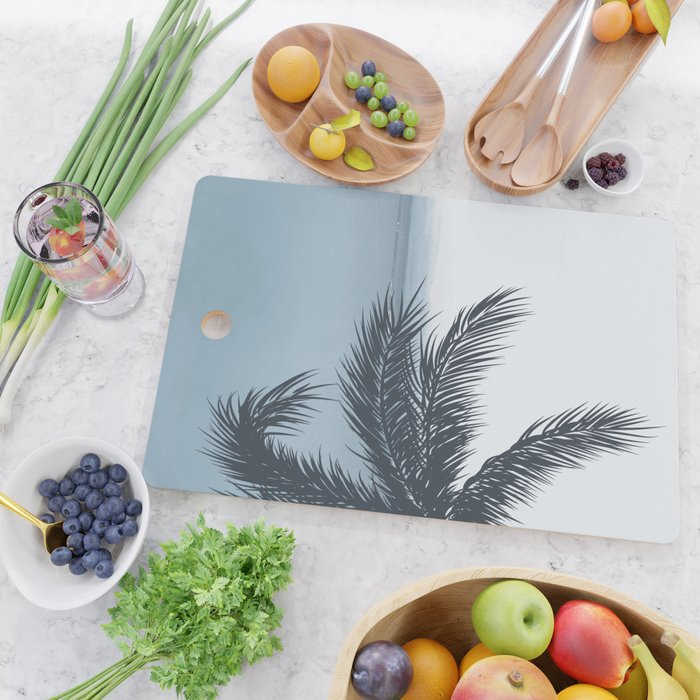 Palm and Ocean Cutting Board