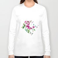 free shipping Long Sleeve T-shirts featuring Rose garden by Ordiraptus