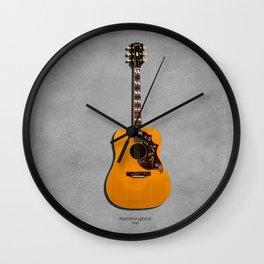 The Hummingbird Acoustic Guitar Wall Clock