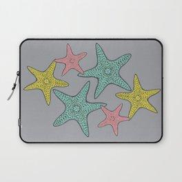 Starfish gray background Laptop Sleeve