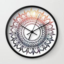 Mehndi Sun Wall Clock