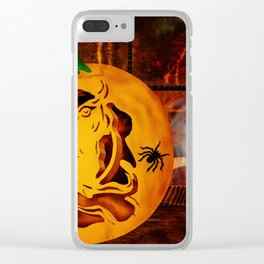 Sirens Pumpkin Carving Halloween Folk Art Clear iPhone Case