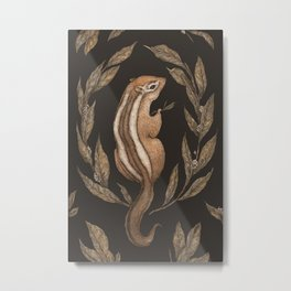 The Chipmunk and Bay Laurel Metal Print
