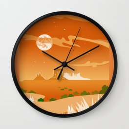Monument Moon Wall Clock