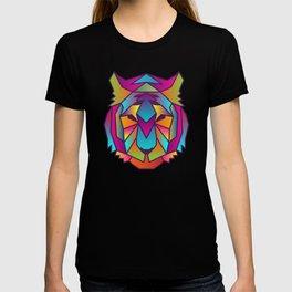 Tiger | Geometric Colorful Low Poly Animal Set T-shirt
