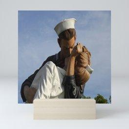 Kissing Sailor And Nurse Portrait Mini Art Print