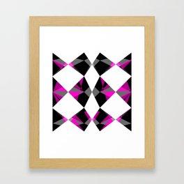 Gemstones Geometric Pink Framed Art Print