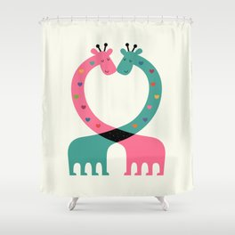 Love With Heart Shower Curtain