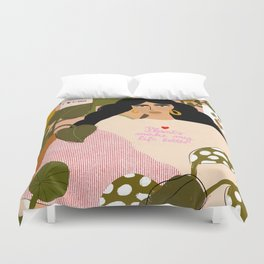 Plants Make My Life better Duvet Cover