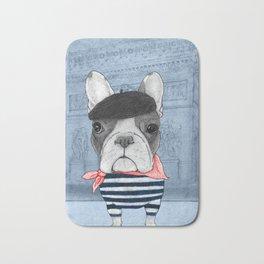French Bulldog. Bath Mat