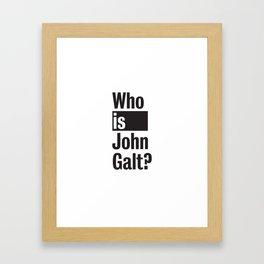 Who Is John Galt? Atlas Shrugged Ayn Rand Framed Art Print