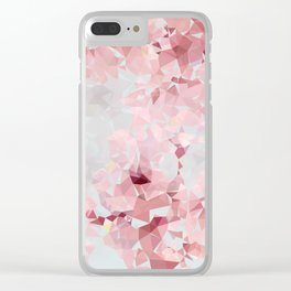 Meshed Up Sakura Blossoms Clear iPhone Case