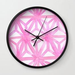 Pink Asanoha Wall Clock