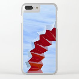 Sculptures'n'Sky Clear iPhone Case