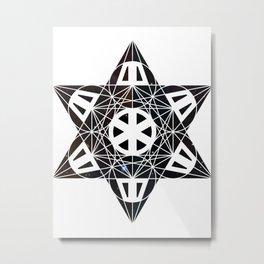 Metatron's Cube Time Wheel ~ Starry Night Metal Print