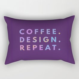 Coffee Design Repeat Rectangular Pillow