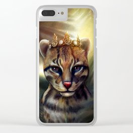 Tropical Queen Clear iPhone Case
