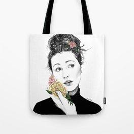Delicate rose - floral portrait 1 of 3 Tote Bag